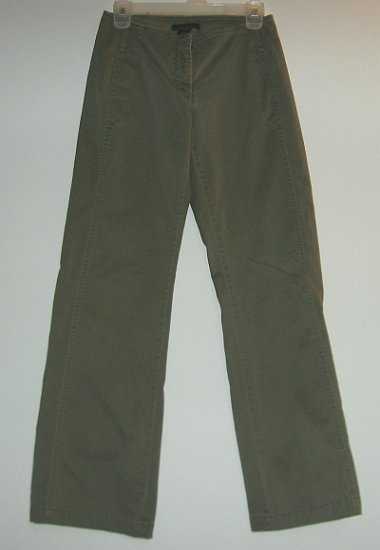 THE LIMITED stretch olive green straight leg pants size 0 good condition