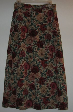 SAG HARBOR floral skirt size small fall colors LIKE NEW