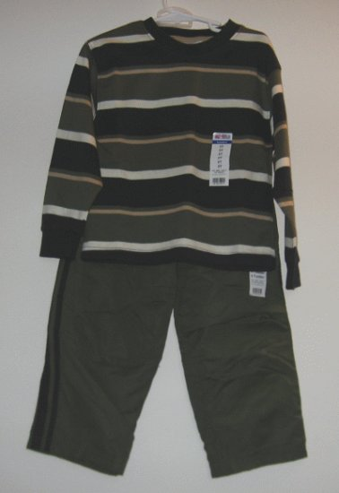 NWT OKIE DOKIE 3 pc set shirt pants BRAND NEW sz 4T 5T