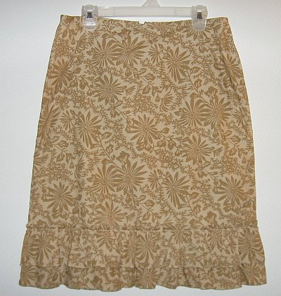 brand new OLD NAVY tan ruffled hem skirt size 10 NWOT