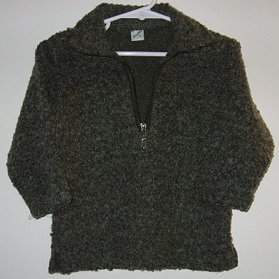ELSATEX size 3 half zip olive sweater made in Lebanon