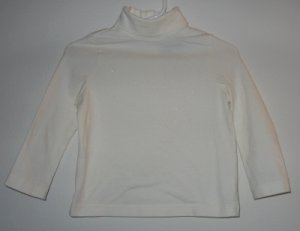 THE CHILDRENS PLACE cream glitter stretch top size 24 mos TCP