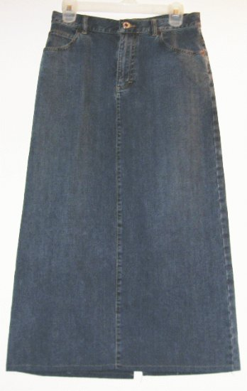 ANN TAYLOR JEANS long straight jean skirt size 4 like new