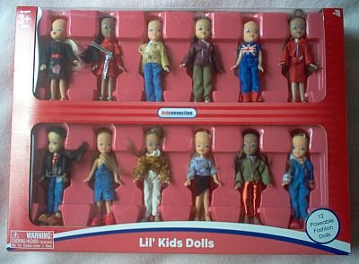 12 poseable fashion DOLLS NIB NIP NEW kid connection