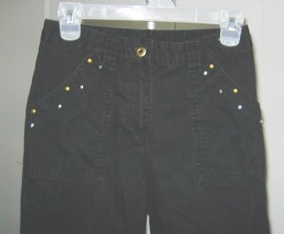 girls size 12 MARY KATE AND ASHLEY black pants capris excellent condition