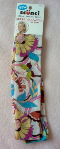 brand new SCUNCI floral retro hippie hair scarf headwrap 44 inches NWT