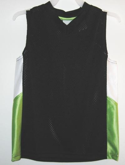 Green and Black Athletic Works Jersey sz XS 4/5