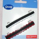 Brand new set of 2 red and white barrettes by Goody NIP
