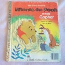 Winnie-the-Pooh Meets Gopher vintage Little Golden Book good condition