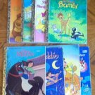 Lot of 8 Disney Little Golden Books Rudolph Minnie Lion good condition