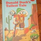 DONALD DUCK'S TALLEST TALE Disney 1980 vintage hardcover excellent condition