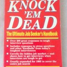 Knock 'Em Dead Job Seeker's Martin Yate 1993 book good condition