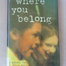 1997 Where You Belong Mary Ann McGuigan book hardcover with dustjacket