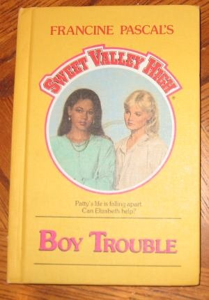 Sweet Valley High Boy Trouble hardcover good condition
