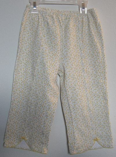 GYMBOREE yellow flower capri legging size large 5 years like new