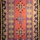 Semi Antique Nomadic Tribal Kilim from Yahyali Anatolia