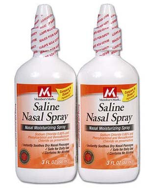 Members Mark Saline Nasal Spray  2/3 oz. btls.