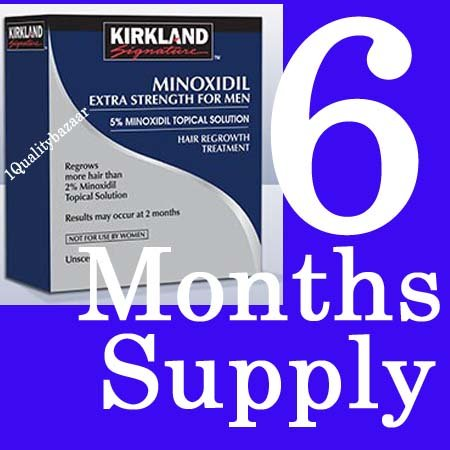 Minoxidil Extra Strength for Men 5% Kirkland Signature 6 Months