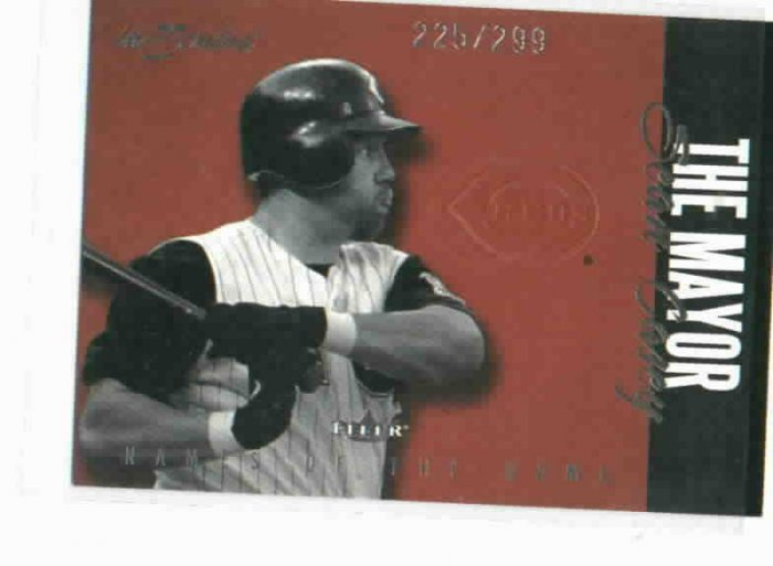 2002 Fleer Inscribed Sean Casey Names Of The Game #D / 299 Cincinatti Reds