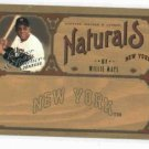 2005 Donruss Leather & Lumber Naturals Willie Mays #D / 2000 New York Mets
