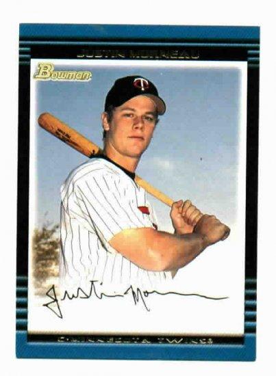 2002 Bowman Justin Morneau Rookie Card Minnesota Twins