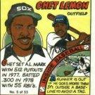 1979 Topps Chet Lemon Comic TEST ISSUE Chicago White Sox