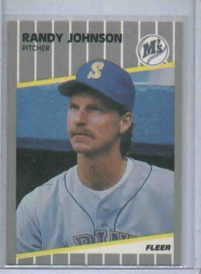 1989 Fleer Update Randy Johnson ROOKIE Seattle Mariners