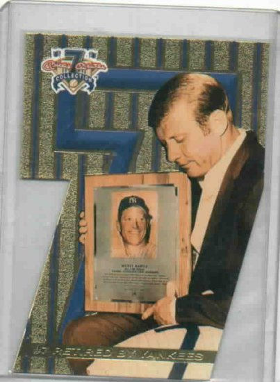 Mickey Mantle Collection Promotional Baseball Card New York Yankees