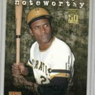 2001 Topps Noteworthy Roberto Clemente Insert Card Pittsburgh Pirates