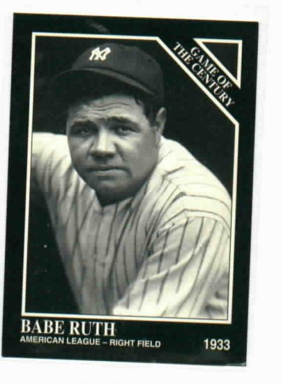 1992 Sporting News Conlin collection Babe Ruth Promotional Baseball Card New York Yankees