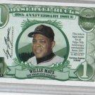 2001 Topps Baseball Buck Willie Mays San Francisco Giants Oddball