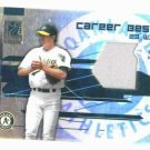 2003 Donruss Elite Career Bests Barry Zito Jersey Card Oakland A's #D / 500