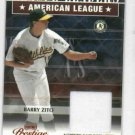 2003 Playoff Prestige League Leaders Barry Zito Game Used Jersey #D / 250 Oakland A's