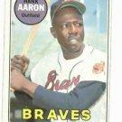 1969 Topps Hank Aaron VG++++ Atlanta Braves