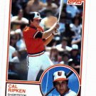 1983 Topps Cal Ripken Jr. SHARP CARD. Baltimore Orioles