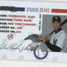 2004 Donruss Studio Stars Alex Rodriguez Insert SS-2 New York Yanlees