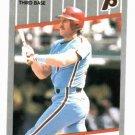 1989 Fleer Tiffany Mike Schmidt Philidelphia Phillies Baseball Card