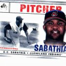 2008 SP Legendary Cuts CC Sabathia Cleveland Indians Baseball Card Yankees