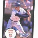 1989 Kenner Starting Lineup Mark Grace Chicago Cubs Baseball Card