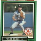 1989 Kenner Starting Lineup One On One Wade Boggs Baseball Card Boston Red Sox
