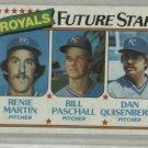 1980 Topps Dan Quisenberry Rookie Card Kansas City Royals