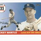 2008 Topps Mickey Mantle Home Run History HR # 533 New York Yankees