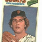 1977 Topps Cloth Sticker John Montefusco San Francisco Giants