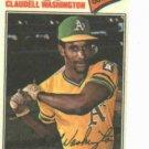 1977 Topps Cloth Sticker Claudell Washington Oakland A's