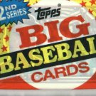 1989 Topps Big Baseball Cards Unopened Wax Pack