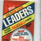 1988 Topps Major League Leaders Baseball Cards Unopened Pack
