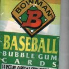 1991 Bowman Baseball Cards Unopened Pack