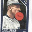 1992 Conlon Collection Casey Stengel Boston Braves Blue Promo Baseball Card