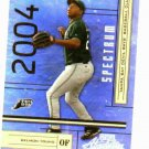 2004 Playoff Absolute Spectrum Delmon Young ROOKIE #D / 100 Tampa Bay Rays