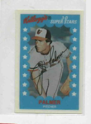 1982 Kelloggs 3D Superstars Jim Palmer Baltimore Orioles Baseball Card
